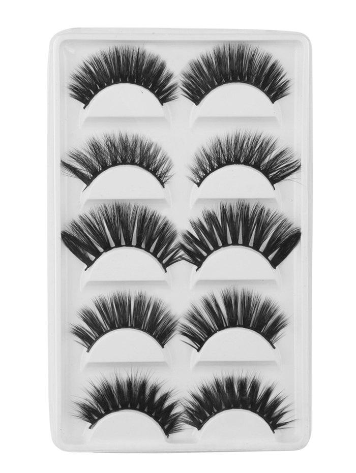 5Pcs Natural Curling Volumizing Mix Handmade Fake Eyelashes 273074001