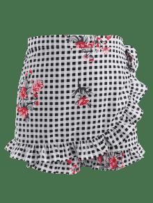 Pantalones Florales Multicolor De Grande Talla Superpuestos Cortos 1x Cuadros r01fqrIw
