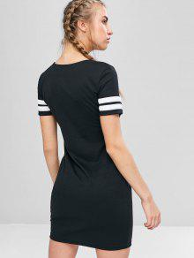 Mini M Tee Dress Contraste Negro 1xwzqwF