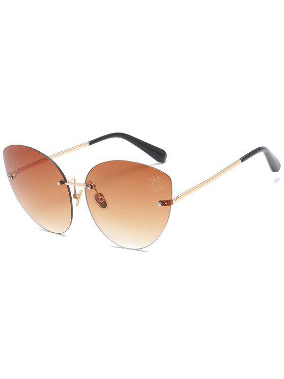 نظارات شمسية أنيقة بدون إطار - بنى