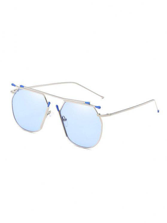 Anti Fatigue Crossbar Alloy Pilot Lunettes de soleil - Bleu de Jean