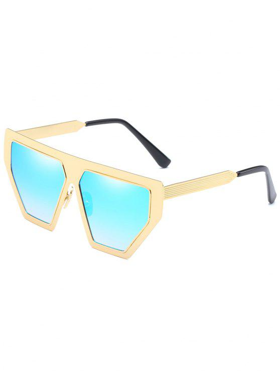 affordable Anti Fatigue Metal Frame Irregular Oversized Sunglasses - LIGHT SKY BLUE