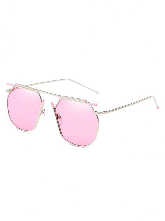 مكافحة التعب سبيكة النظارات الشمسية العارضة الطيار - خنزير وردي