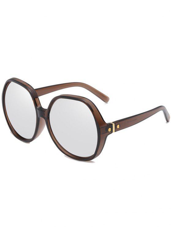 Gafas de sol de gran tamaño con marco anti fatiga - Platino
