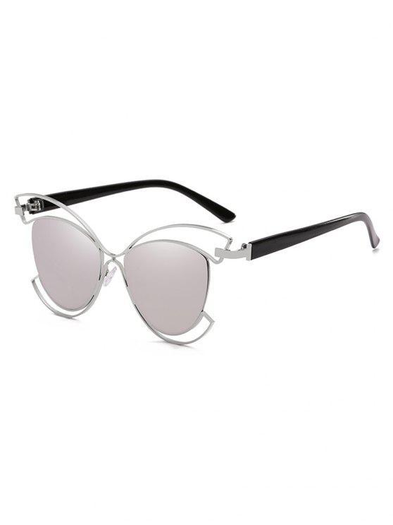 Metal Oco Out Frame Novelty Sunglasses - Platina