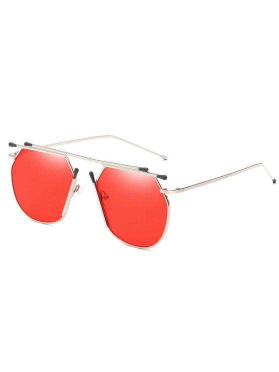 مكافحة التعب سبيكة النظارات الشمسية العارضة الطيار - أحمر