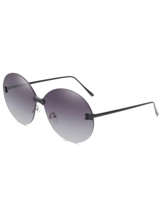 Gafas de sol redondas extragrandes sin marco anti UV - Jet Gris