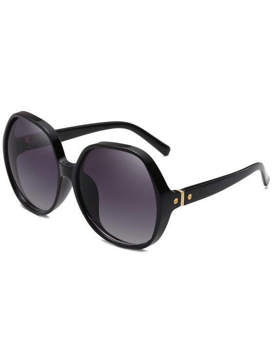 مكافحة التعب الإطار الكامل المتضخم النظارات الشمسية - أسود