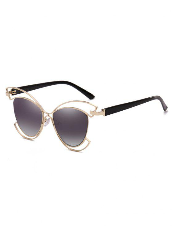 outfits Metal Hollow Out Frame Novelty Sunglasses - VAMPIRE GRAY
