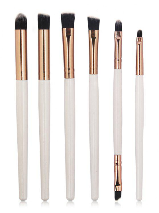 women's 6 Pcs Perfect Eye Shadow Blending Eye Makeup Brush Kit - COFFEE