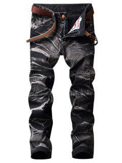 Jeans Straight Leg Dye - Gris Oscuro 42