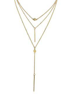 Pendant Decoration Layered Chain Necklace - Gold