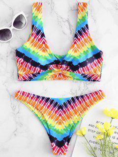 Regenbogen Tiefer Bikini - Multi M