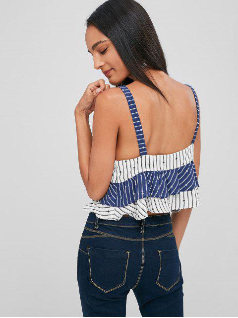 online Striped Tiered Tank Top - MULTI S Mobile