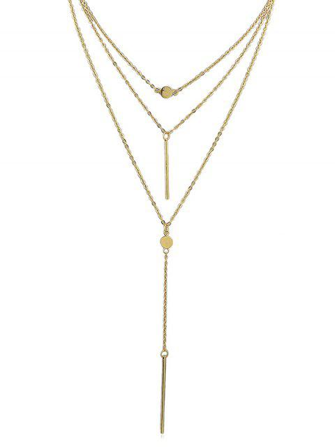 online Pendant Decoration Layered Chain Necklace - GOLD  Mobile