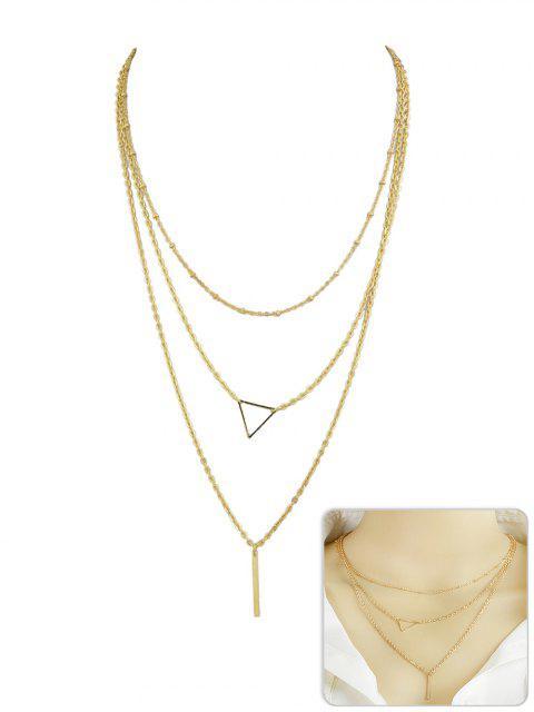 Collar colgante con forma de triángulo - Oro  Mobile
