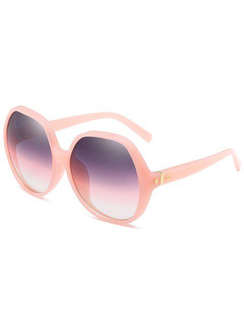 fancy Anti Fatigue Full Frame Oversized Sunglasses - BLUE GRAY  Mobile