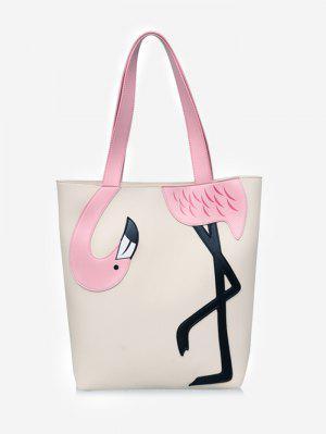 Chic extérieur flamant rose sac à bandoulière bloc de couleur