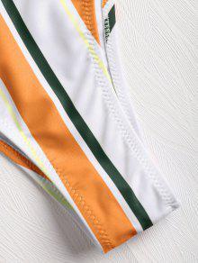 Bikini Rayas Bralette Conjunto De Marrón DoradoLZAFUL A Enjaulado PkwXZTliOu