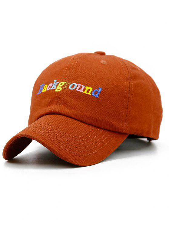 buy Colored Background Embroidery Snapback Hat - CHESTNUT RED