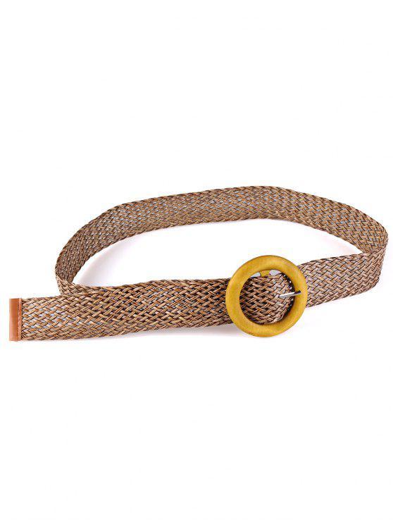 خمر حزام مشبك خشبي متماسكة الخصر - الظلام الكاكي