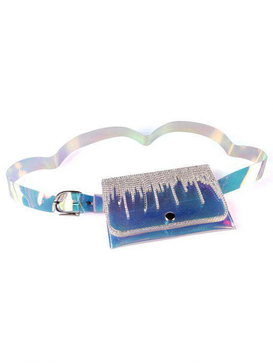 outfit Shiny Rhinestone Inlaid Fanny Pack Belt Bag - MULTI-A