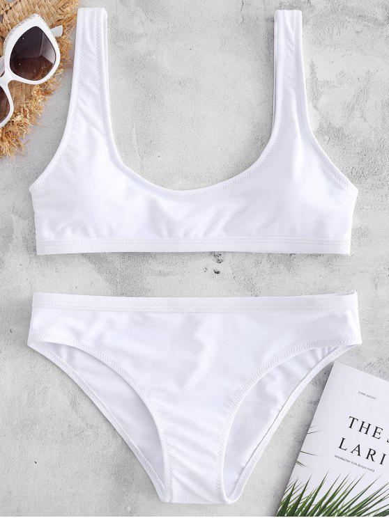 sale Sport Tank Bikini Set - WHITE S