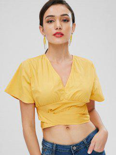 Batwing Knotted Top - Bright Yellow M