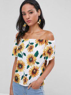 Sunflower Off The Shoulder Top - White M