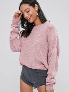 Chunky Knit Loose Sweater - Pink Bubblegum