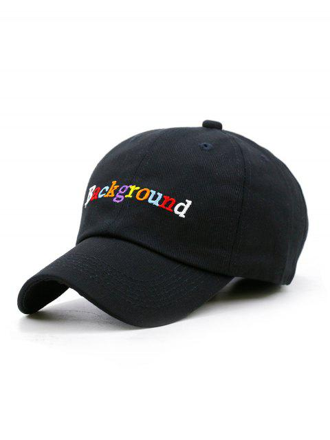 outfit Colored Background Embroidery Snapback Hat - BLACK  Mobile