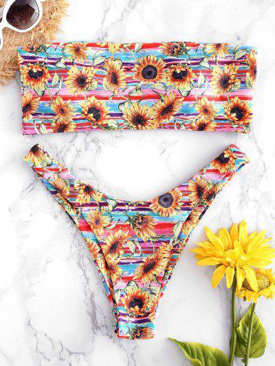 Bandeau Sunflower Bikini