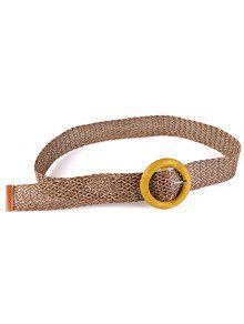 خمر حزام مشبك خشبي متماسكة الخصر - كاكي الظلام