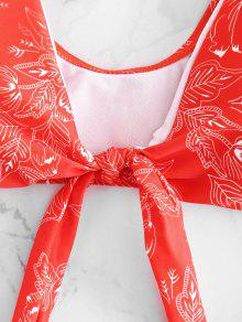 L Nudo De De 243;n Bomberos Bikini Estampado Cami Rojo Delantero CP5Cpqzw
