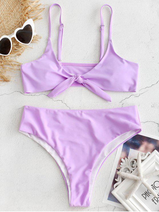 Set de Bikini con Nudo Acolchado - Color de malva S