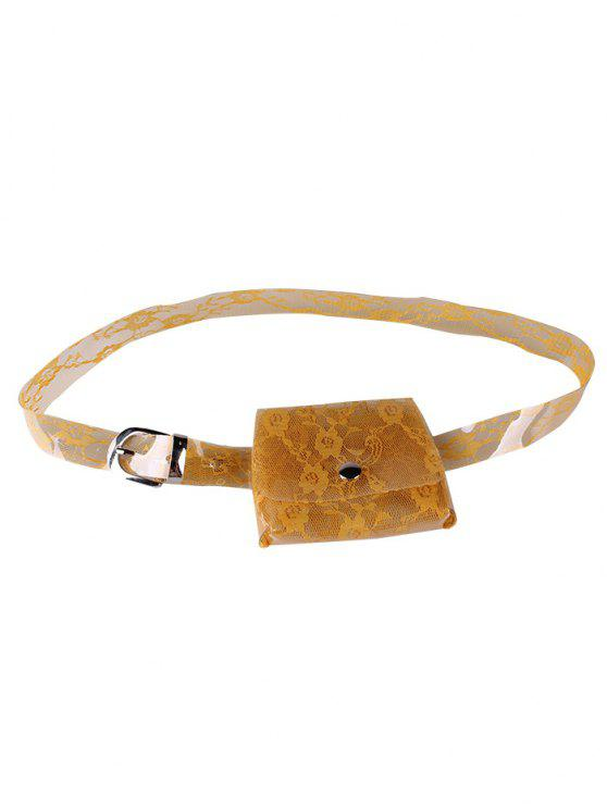 Fanny Pack Floral Ceinture en PVC transparent décoratif - Orange Citrouille