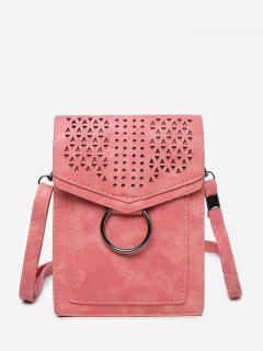 Leisure Multi Function Hollow Out Flapped Crossbody Bag - Red Vertical