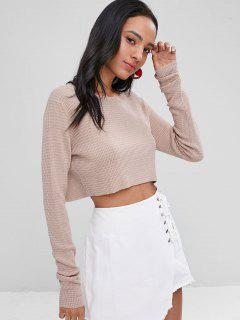 Pull Court Uni - Rose Kaki