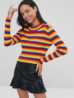 Striped Ribbed Sweater - Multi