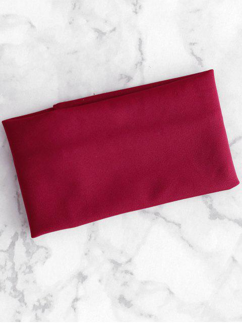 new Bandeau High Cut Bikini Set - RED WINE L Mobile