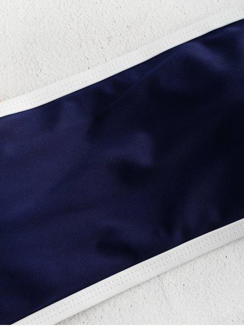 Контрастный край Бандо Бикини в сборе - Синий M Mobile