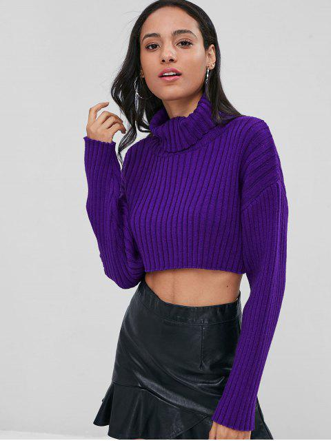 Suéter de cuello alto - Violeta Oscuro Talla única Mobile