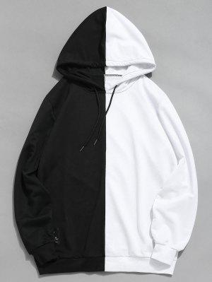 zaful Contrast Patchwork Casual Hoodie