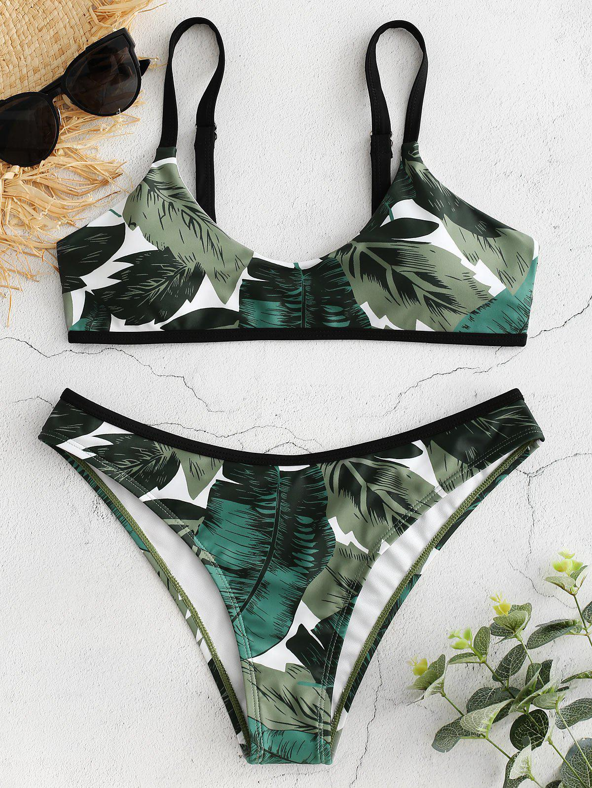 Palm Leaf Print Bralet