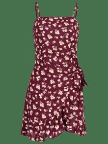Lazo Vino Tinto Floral Cami M Con Vestido 06RUIq