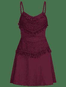 De Vestido Pastel Overlay S Crochet Ciruela Back Sakter Tie De Mini Z8B7qp
