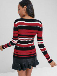 Striped Cosy Jersey Multicolor S Pullover Tricolor nqpExgEY