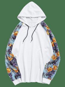 Floral Sudadera M Estampado Capucha Blanco Ragl 225;n Manga Con Y Con r8wqOrTv