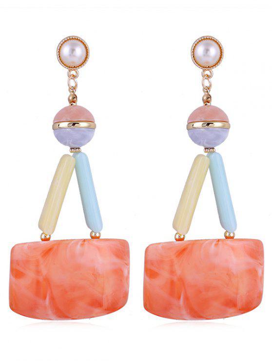 9ffbcb697c29 Pendientes de gota de fiesta de acrílico de la perla de imitación única -  Mandarina