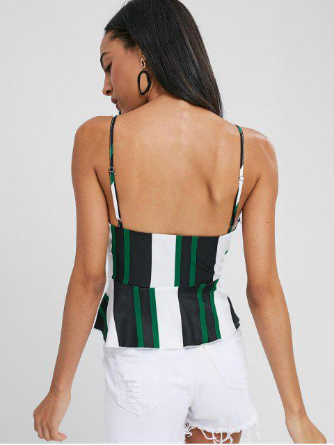 chic Striped Cami Peplum Tank Top - MULTI M Mobile